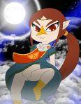 bluelimelight brown_hair medli red_eyes smile solo the_legend_of_zelda the_wind_waker