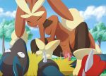 1boy 1girl animated_gif anthro art breasts closed_eyes cum cum_in_pussy cum_inside domination duo female_domination fur furry girl_on_top lopunny lucario lying master_porky masterploxy mega_evolution mega_lopunny mega_lucario nintendo nipples open_mouth penetration penis pokemon pokemon_oras pokemon_xy pussy pussy_juice red_fur sex spikes vaginal vaginal_penetration video_games