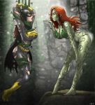 2girls batgirl batman big_breasts breasts dc multiple_girls poison_ivy the_batman wilko wilko_(artist)