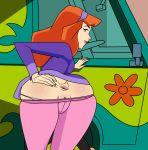 1girl anus ass ass_grab breasts clothes daphne_blake female looking_back randomrandom randomrandom_(artist) scooby-doo solo spread_anus