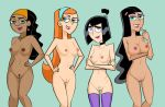 4_girls asexualfrustration big_breasts black_hair blue_eyes breasts danny_phantom dark_skin hairband hairclip hairless_pussy jasmine_fenton long_hair multiple_girls navel nipples no_bra no_panties nude paulina ponytail pubic_hair pussy red_hair samantha_manson short_hair smile tagme take_your_pick stockings valerie_grey