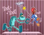 eltonpot eltonpot_(artist) feather furry robot woody_woodpecker