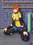 april_o'neil big_breasts blue_eyes breasts orange_hair reaperx15_(artist) solo teenage_mutant_ninja_turtles