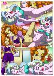 2girls adagio_dazzle comic equestria_girls equestria_untamed friendship_is_magic multiple_girls my_little_pony princess_celestia rainbow_rocks the_dazzlings_revenge yuri