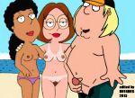beach chris meg nipples nude nude taboo
