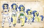1_girl 1girl apron artist_name big_breasts blue_hair bottle breasts cleavage commentary cow_print cutie_mark directional_arrow english equine freckles friendship_is_magic furry green_eyes hat high_res highres hooves large_breasts leggings looking_at_viewer mega_milk milk milk_bottle milky_way milky_way_(character) my_little_pony my_little_pony_friendship_is_magic navel one_eye_closed open_mouth personification pigeon-toed pony shepherd0821 shirt shorts skirt smile stockings t-shirt tail tattoo thighhighs transformation waving wink zettai_ryouiki