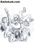 cyborg dc dcau female karbo raven starfire teen_titans terra