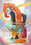 anal_insertion ass breasts dildo dragon_ball_z green_skin muscarine nipples orange_hair zangya