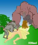 animated baboon disney dress gif gorilla jane_porter kerchak rommel tagme tarzan