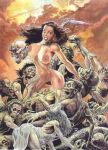 big_breasts breasts cavewoman meriem_cooper nude peril struggle zombies