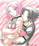 breasts heart naruto sakura_haruno sasuke_uchiha