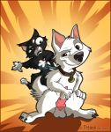 bolt cat disney dog mittens