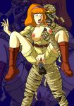 anal anal_sex boots breast_grab breasts clothed daphne_blake hairband mummy pussy red_hair scooby-doo sex shorts spread_legs tagme torn_clothes