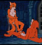 3_toes animated barefoot breasts canine chair claws disney female foot_fetish footjob fox furry gadionstriom gif hetero hindpaw maid_marian male masturbation nude paws penis pussy robin_hood sex toes tongue