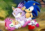 amy_rose blaze_the_cat mobius_unleashed sega sonic sonic_team sonic_the_hedgehog tagme threesome