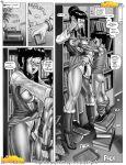 chichi comic dragon_ball_z incest milftoon monochrome son_gohan