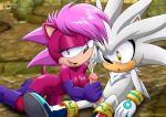 cum handjob mobius_unleashed sega silver_the_hedgehog sonia_the_hedgehog sonic_(series) sonic_team tagme
