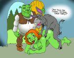 donkey dreamworks ogre princess_fiona shrek shrek_(character) tagme