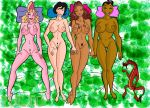 aisha big_breasts breasts crossover disney hera hercules layla mulan mushu nude pussy super_friends thalia the_muses tulio_(artist) wendy_harris winx_club