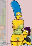 jimbo kikebrikex_(artist) marge_simpson pussy tagme the_simpsons yellow_skin