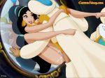 aladdin aladdin_(series) cartoonvalley.com cum cum_inside disney helg_(artist) impregnate impregnation mirror penis princess_jasmine pussy tagme the_sultan
