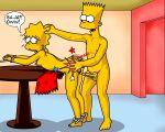 bart_simpson bondage incest lisa_simpson spanking tagme the_simpsons yellow_skin