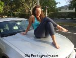 anjelica_lauren barefoot big_breasts breasts butterface feet leggings legs milf mom