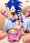amy_rose breast_grab green_eyes horny mobius_unleashed penis sega sex sonic sonic_boom sonic_team sonic_the_hedgehog teeth