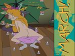 ass blargsnarf breasts helga_pataki hey_arnold jester_(artist) lip_bite masturbation nude pillow pussy shrine socks