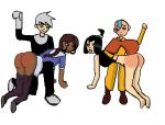 animeotk avatar:_the_last_airbender big_ass comic crossover danny_phantom katara sam spanked spanking tears zuko