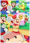 captain_toad luigi mario palcomix super_mario_bros. tagme when_the_bros_are_away