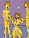 ahegao breasts cross cum cumshot handjob hands_on_hips incest maude_flanders necklace ned_flanders nude orgy penis pussy reverse_cowgirl rod_flanders the_fear the_simpsons todd_flanders yellow_skin