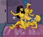 ahegao anal bed big_tits breasts choking cum family futanari incest jessica_lovejoy kneepads lisa_simpson marge_simpson masturbation milf mom_daughter nude squirting strap-on the_fear the_simpsons threesome vaginal