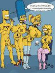ball_gag bart_simpson big_breasts big_penis bondage boots breasts collar family high_heels incest lisa_simpson maggie_simpson marge_simpson nude old_and_young penis pregnant the_fear the_simpsons yellow_skin