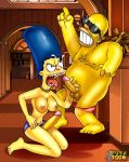 futanari homer_simpson intersex marge_simpson the_simpsons yellow_skin