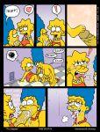 akabur comic futanari intersex lisa_simpson marge_simpson the_simpsons yellow_skin