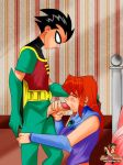 dc fellatio futanari intersex oral robin sheanimale starfire teen_titans