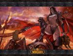 azazel1944 bikini_armor blood blue_eyes boots breasts brown_hair cape decapitation draenei futanari guro horns long_hair panties pointy_ears polearm pubic_hair see-through severed_head spear tail thigh_boots thighhighs topless underwear warcraft weapon world_of_warcraft
