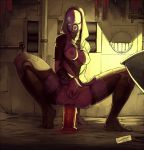 2012 alien anal anal_insertion breasts breasts_outside butt dated dildo faustsketcher female helmet large_insertion mass_effect masturbation nipples object_insertion pussy quarian solo spread_legs squatting sweat tali'zorah_nar_rayya thighhighs