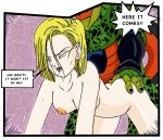 android_18 cell dragon_ball_z tagme