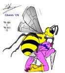 beedrill biyomon digimon glenn glenn_(artist) pokemon