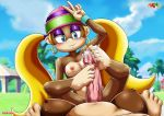 blush breasts cum donkey_kong donkey_kong_(series) footjob fur34 smile tagme tiny_kong
