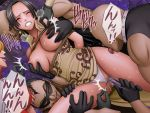 bdsm black_hair boa_hancock bondage bound breast_grab breasts censored crimson_comics dildo domino_mask earrings fairy_tail gloves grabbing insertion jewelry licking mask mutual_masturbation needle nipple_play nipples object_insertion one_piece panties panties_aside poking pussy pussy_juice rape rope sadi-chan underwear white_panties