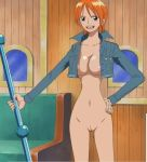 breasts fairy_tail nami nami_(one_piece) nipples nude nude_filter one_piece photoshop pussy uncensored undressing