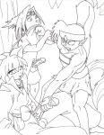 crossover inuyasha koga naruto sasuke_uchiha trainer