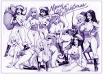 annie_fanny brandy_carter chaos_comics christmas crossover daphne_blake dc_comics dcau disney jessica_rabbit julius_zimmerman_(artist) lady_death lara_croft liberty_meadows little_annie_fanny monochrome santa_claus scooby-doo tomb_raider vampirella who_framed_roger_rabbit wonder_woman zimmerman