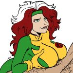 female marvel megasweet paizuri rogue through_clothes x-men