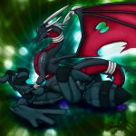 abstract_background black blue blue_eyes cynder cynder-the-dragon dragon female feral hetero male penis pink pokemon pussy red red_eyes scalie sex shiny shiny_pokemon spyro_the_dragon testicles zekrom