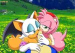 2girls amy_rose ass fellatio mobius_unleashed multiple_girls oral palcomix rouge_the_bat sonic sonic_the_hedgehog