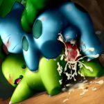 bulbasaur chikorita darkrobin nintendo pokemon